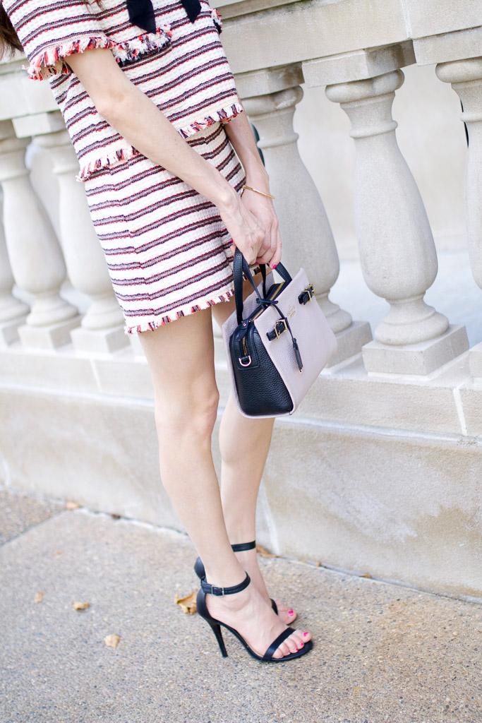 Tweed Striped Shorts Zara