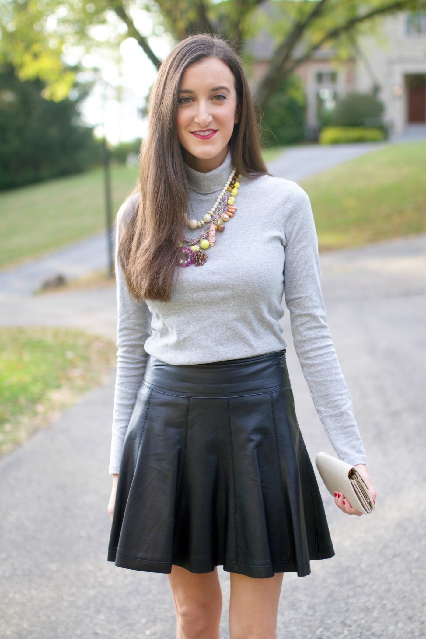Grey Turtleneck Outfit