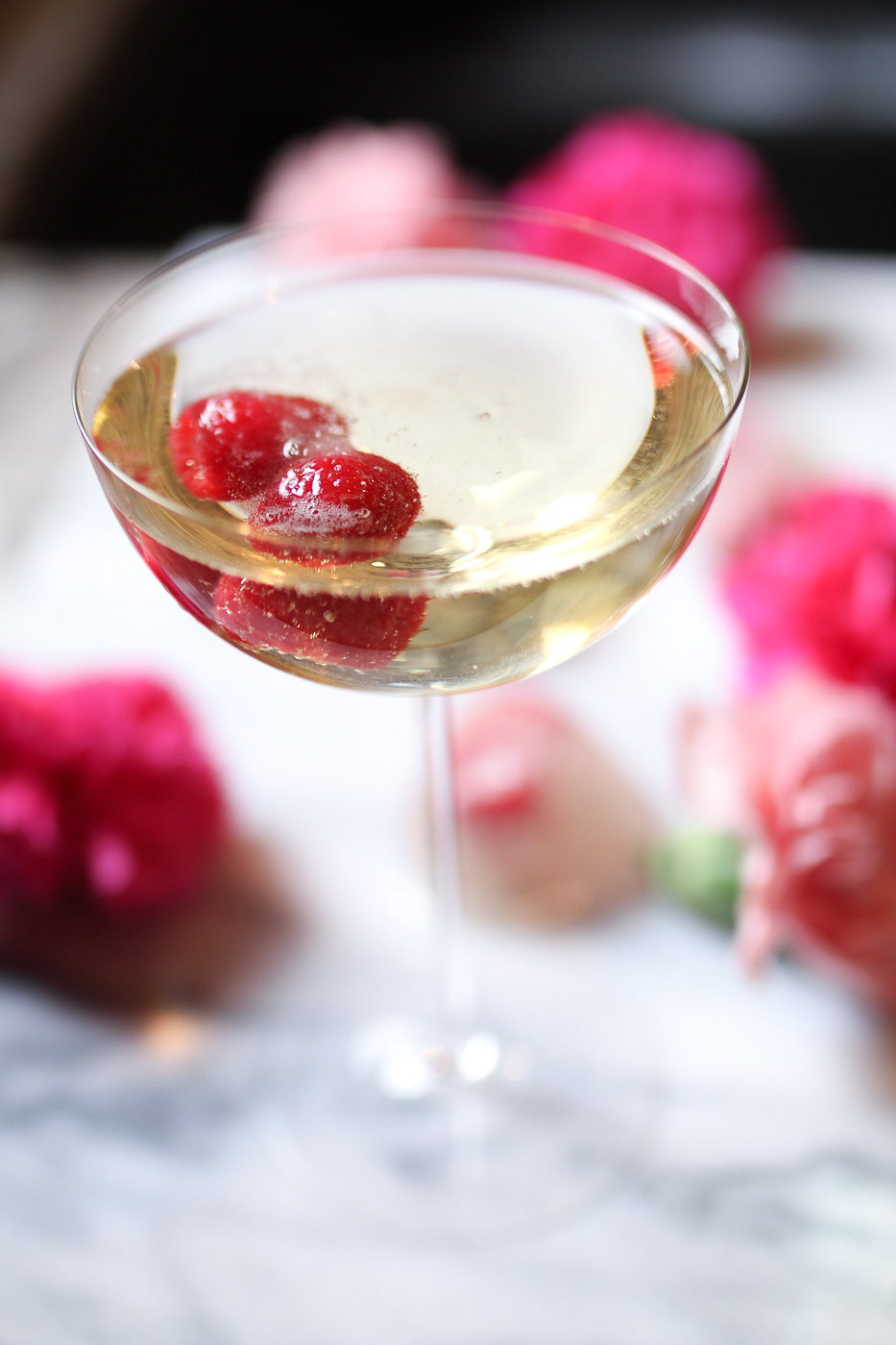 valentines day champagne cocktails