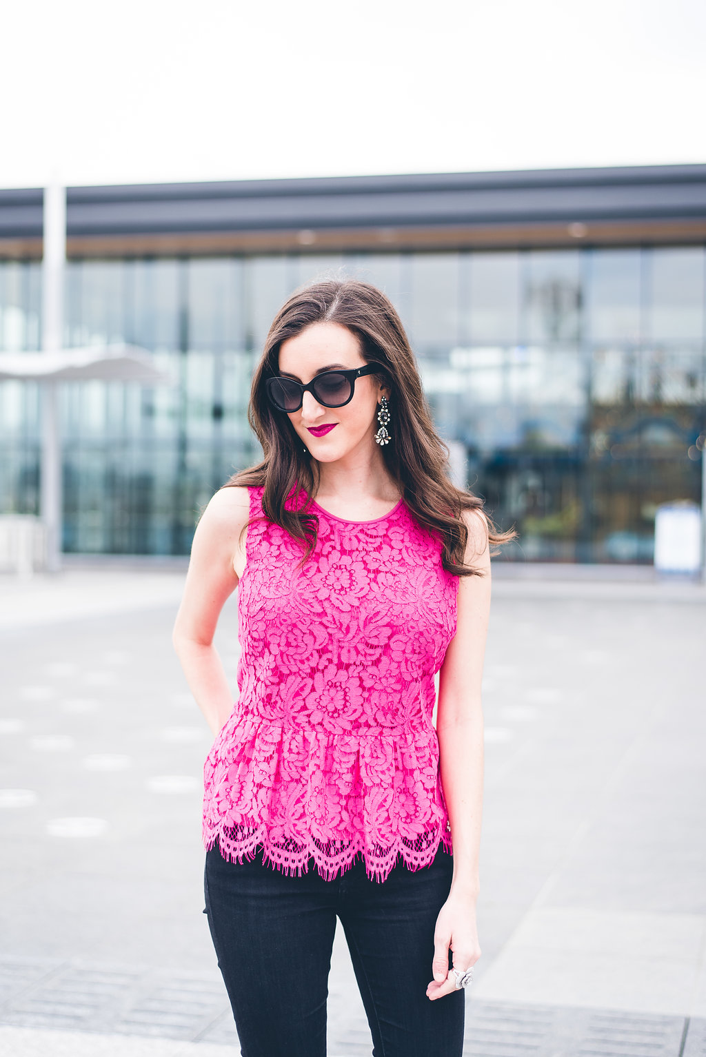 J.Crew Lace Peplum Top