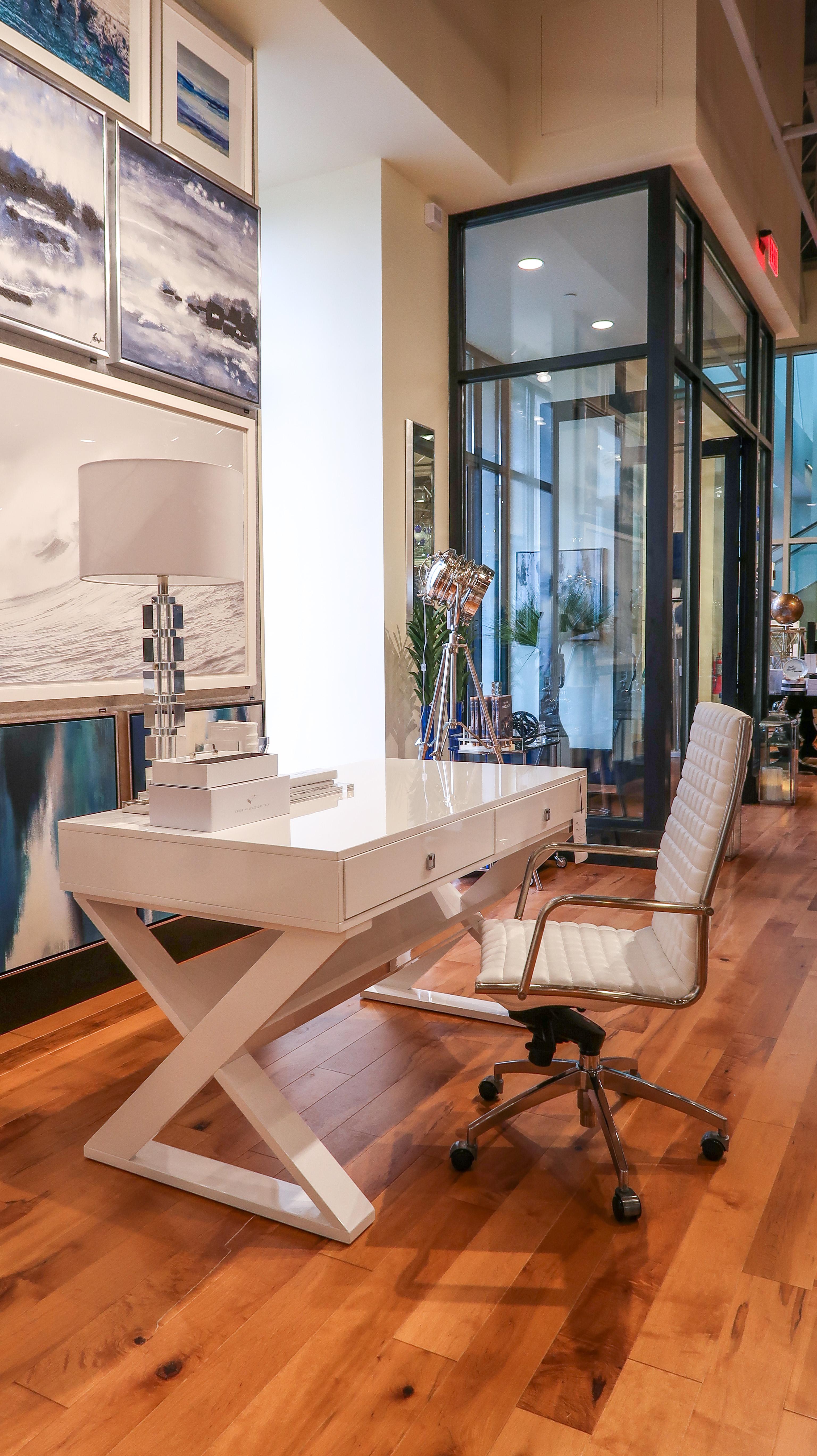 Z Gallerie White Desk