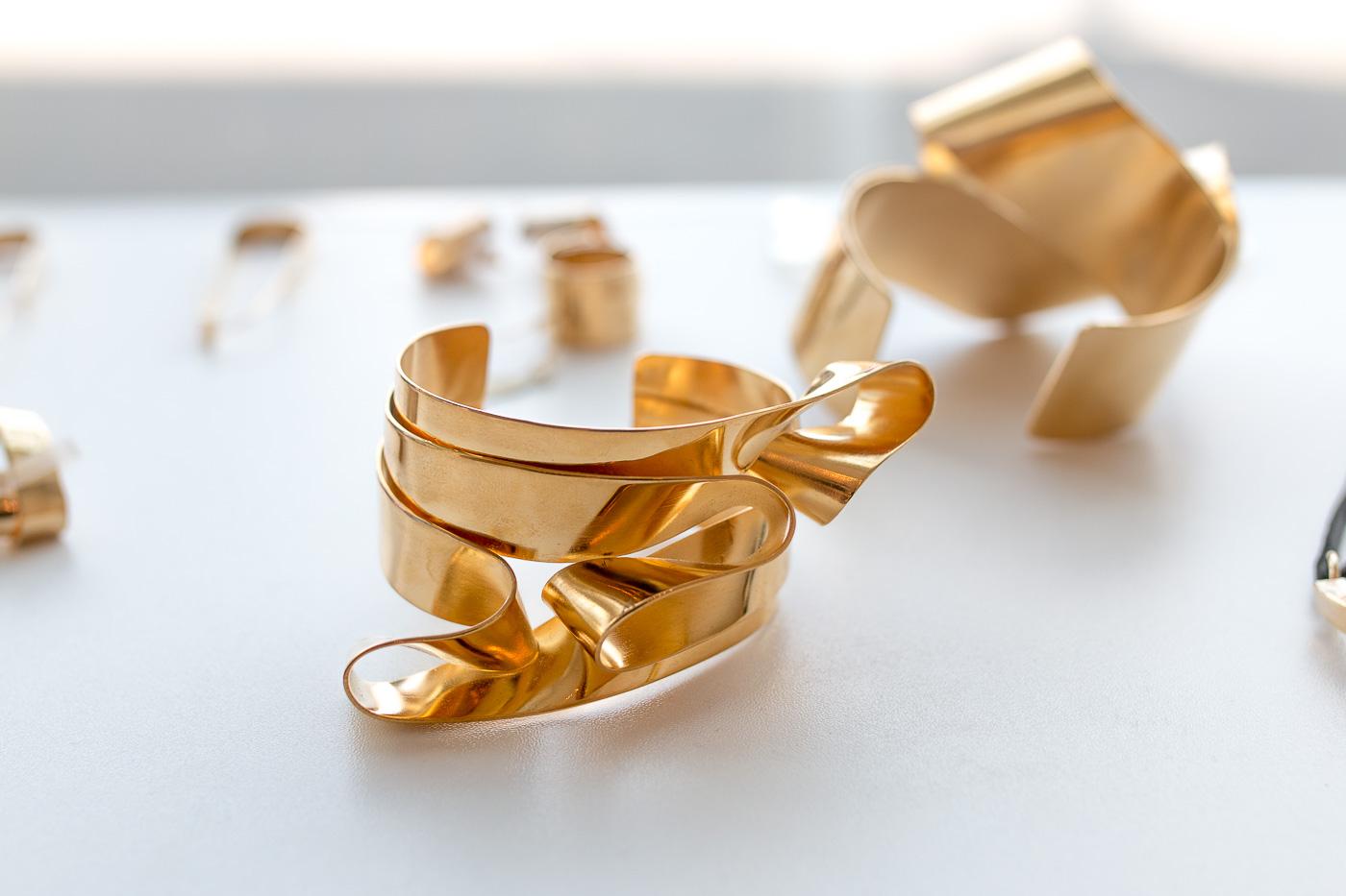 Gold Designer Cuff Bracelet