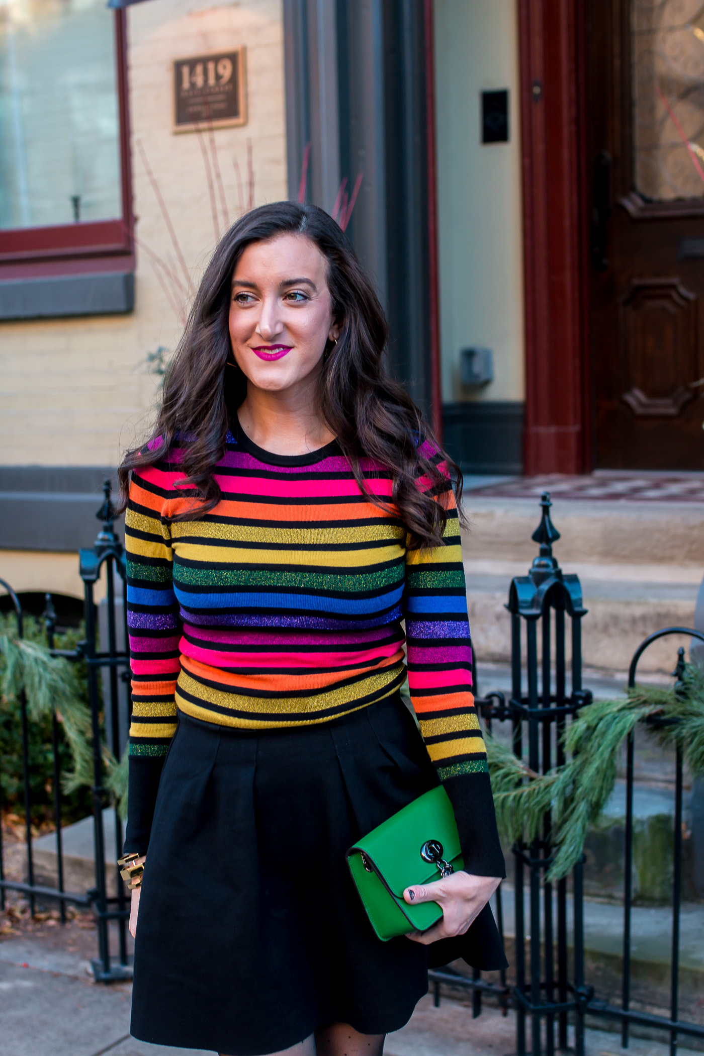 ASOS Rainbow Striped Sweater