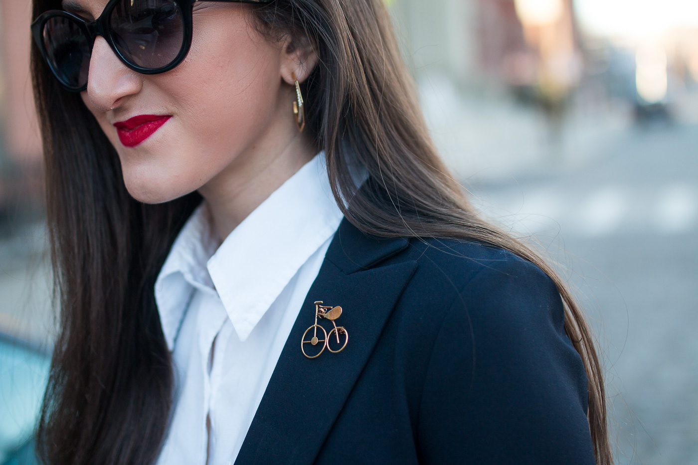Bike Brooch with Blazer