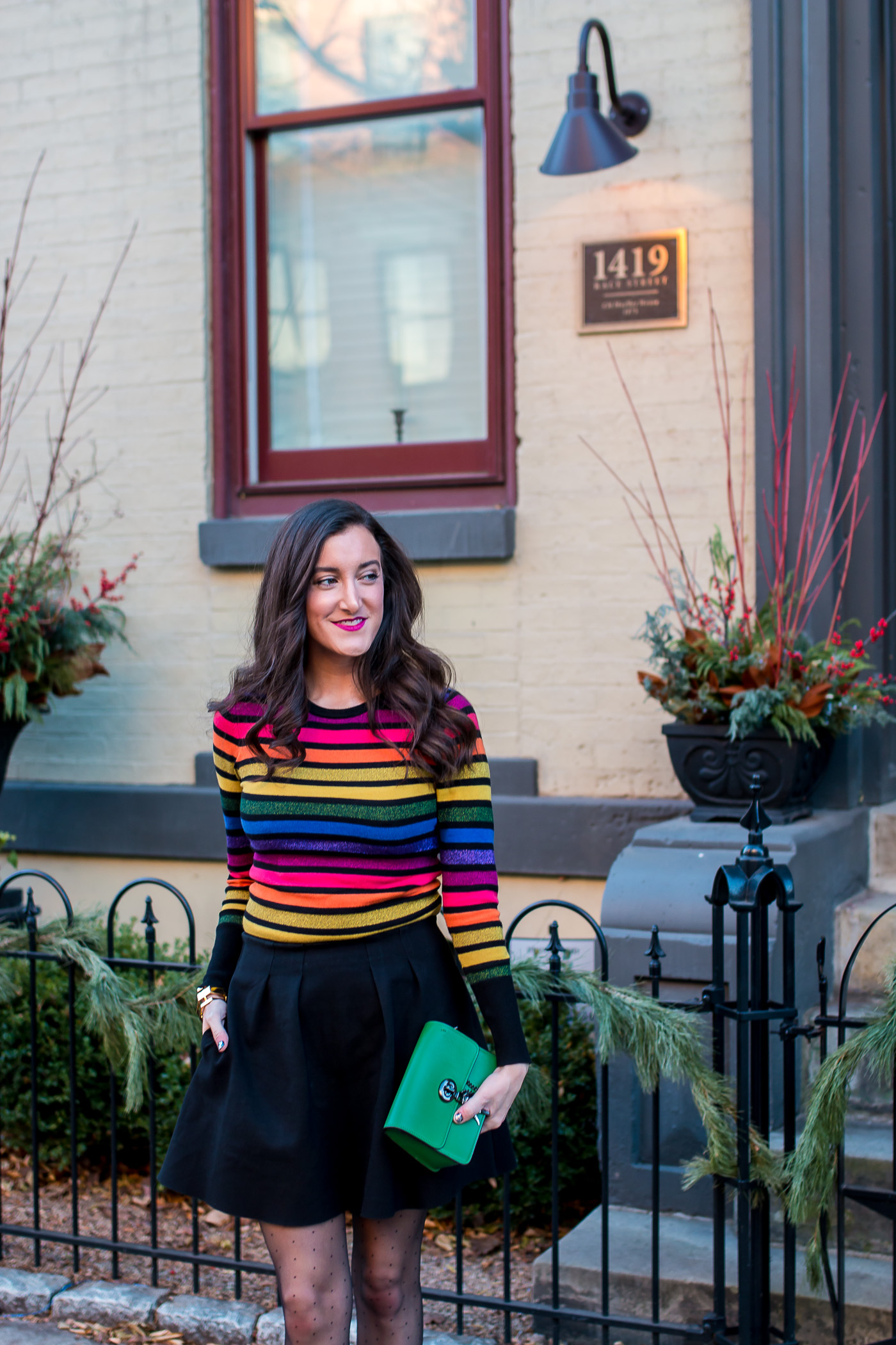 Rainbow Striped Sweater ASOS