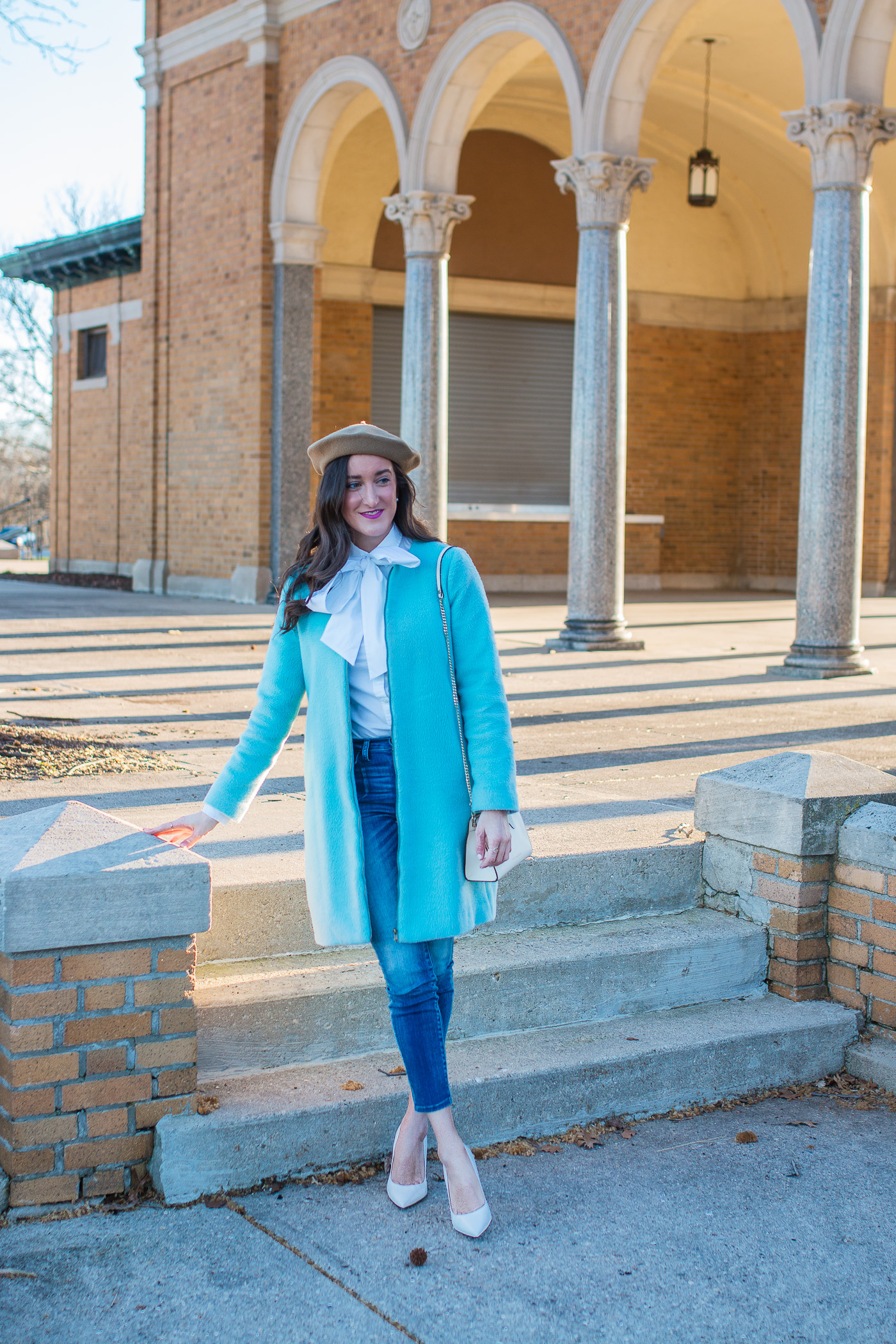 How To Wear a Baby Blue Coat