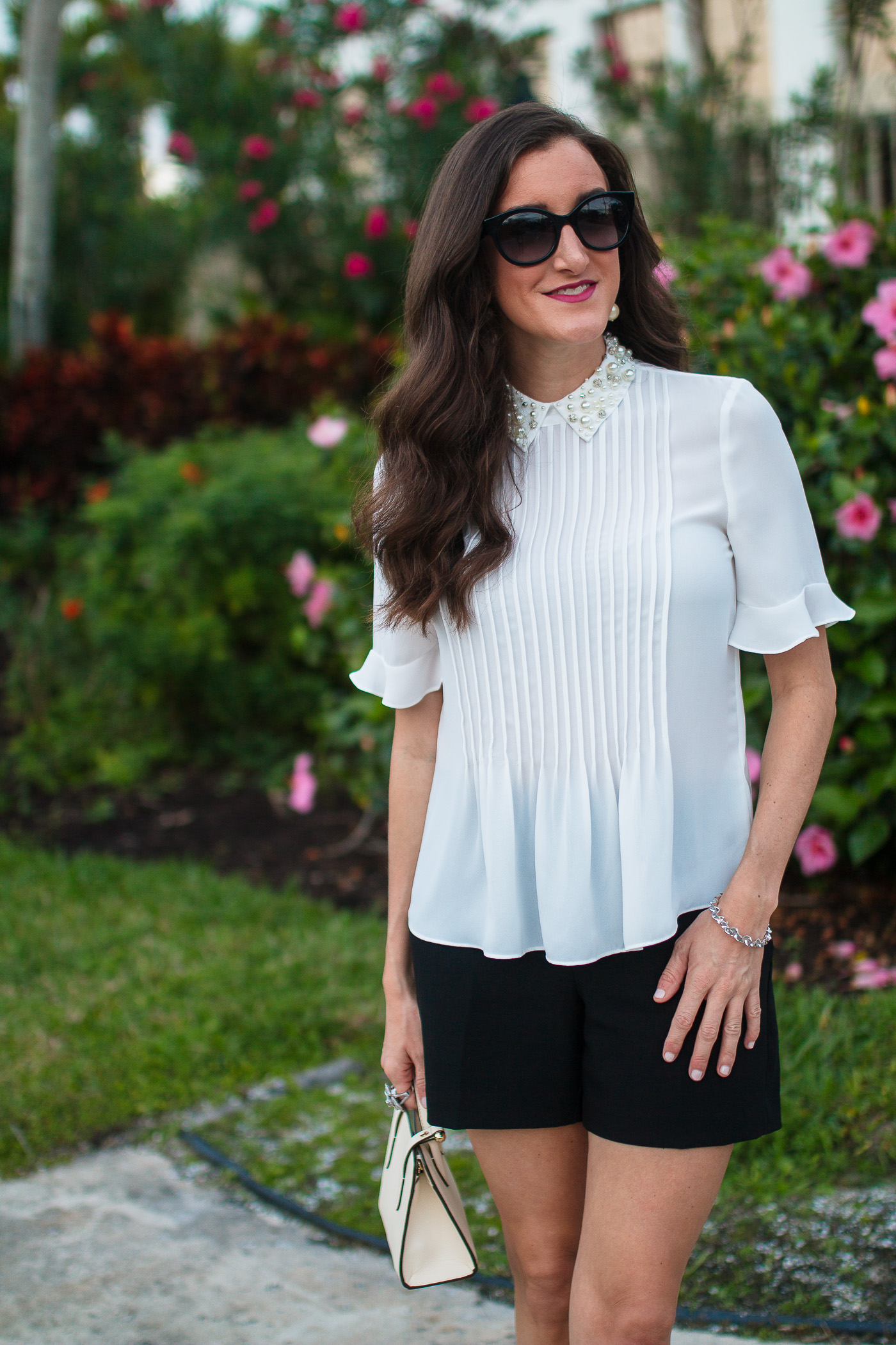 Pearl Embellished Top