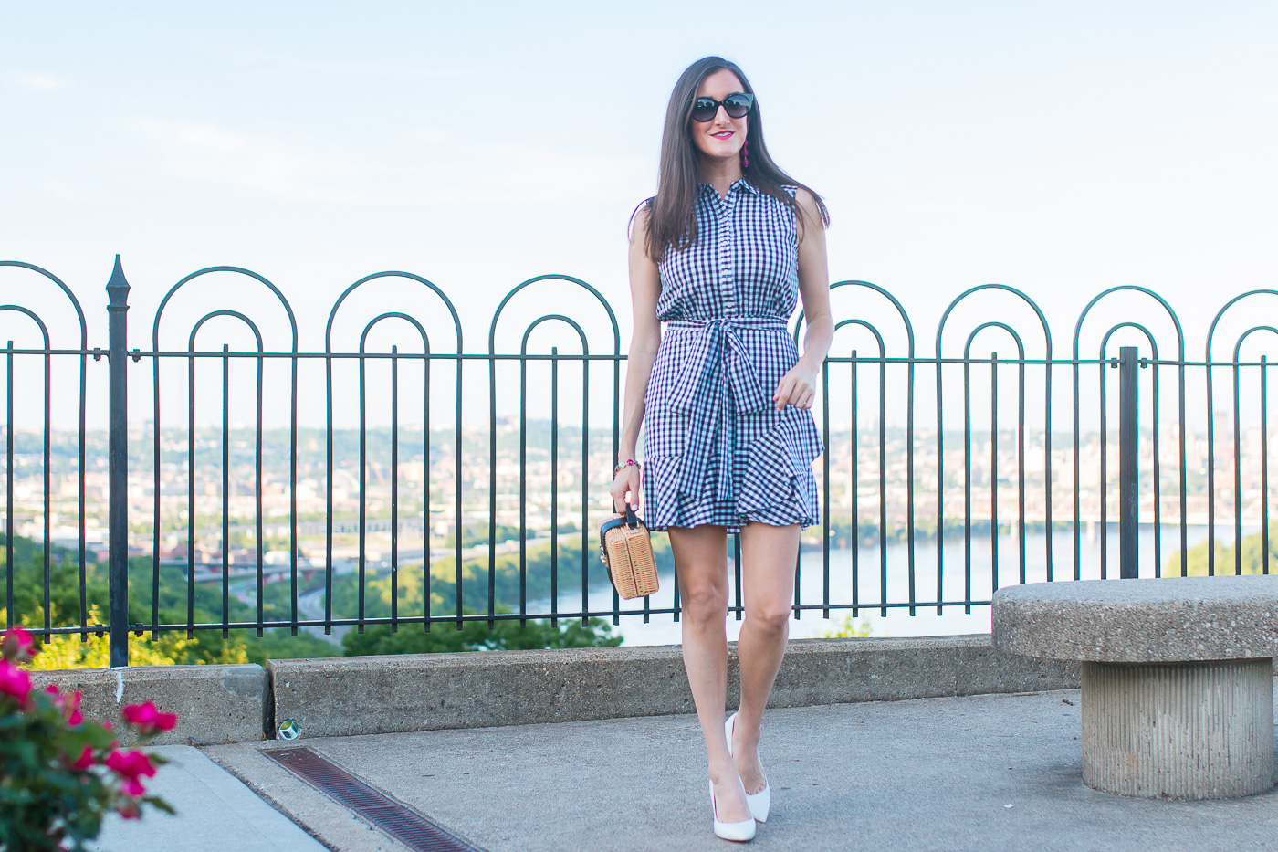 Ruffled Gingham Dress