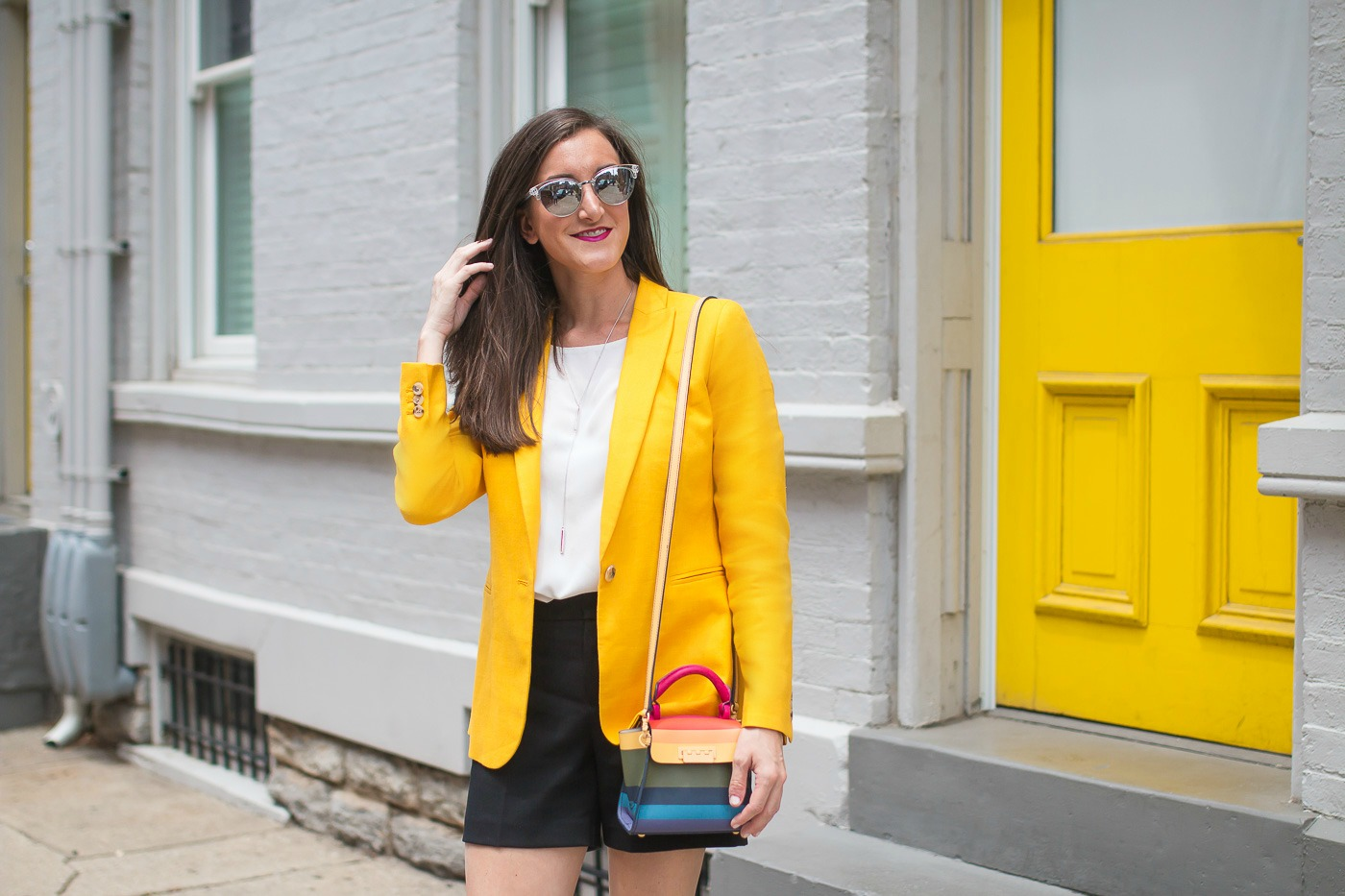 Yellow Linen Blazer JCrew