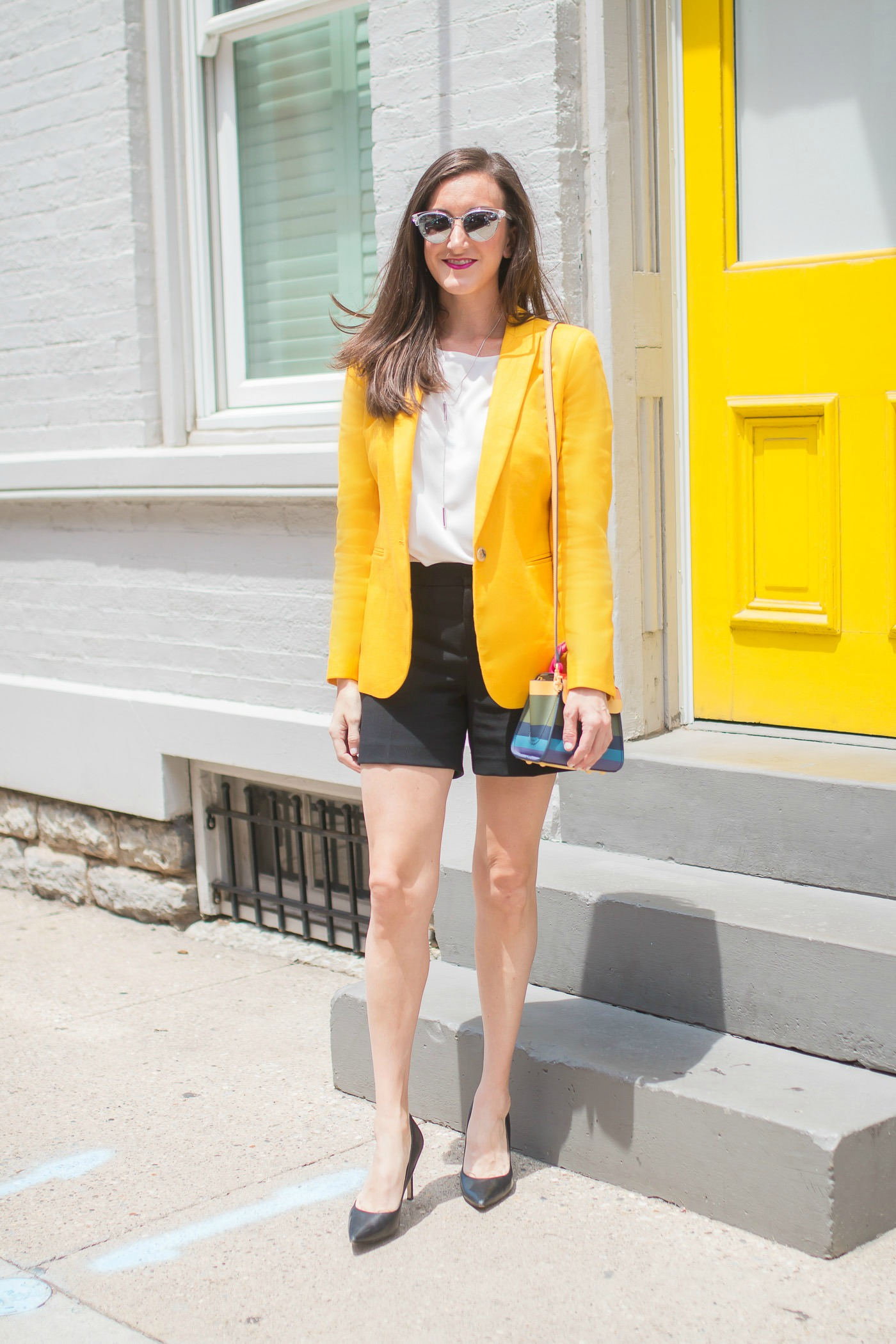 Yellow Linen Blazer