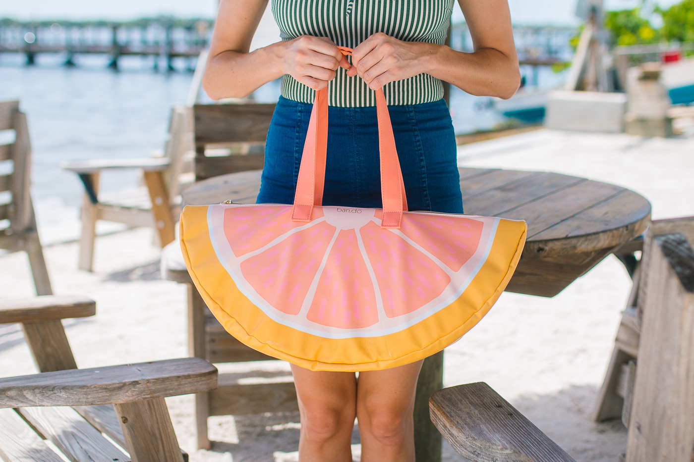 Bando Grapefruit Slice Beach Bag