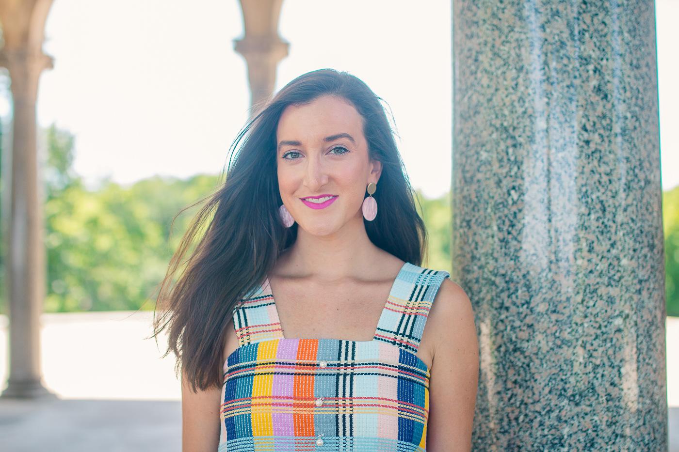 Colorful Tweed Dress