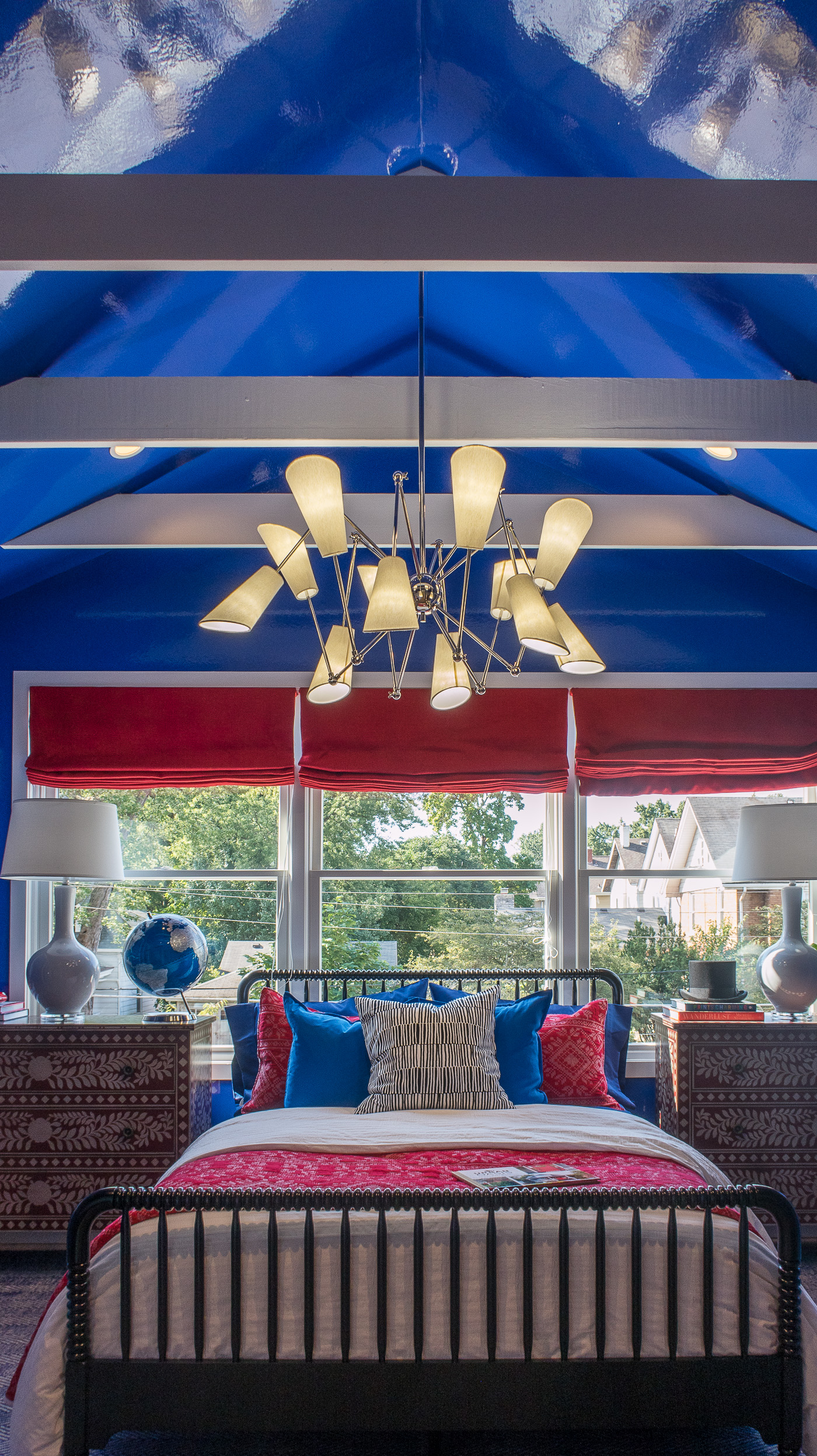 Red and Blue Bedroom HGTV