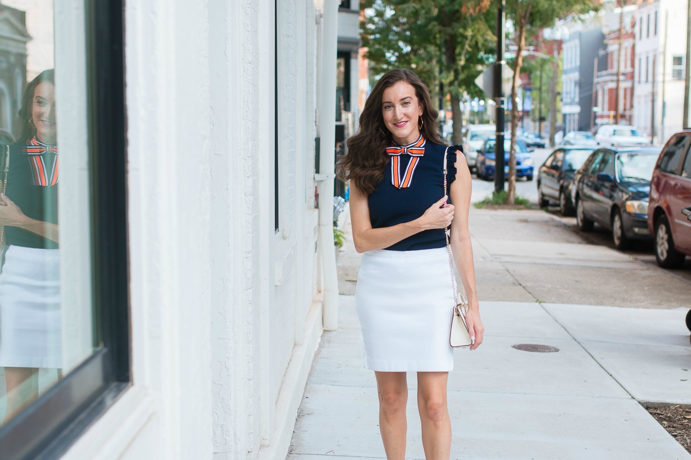 Cincinnati Fashion Blogger wearing Ted Baker
