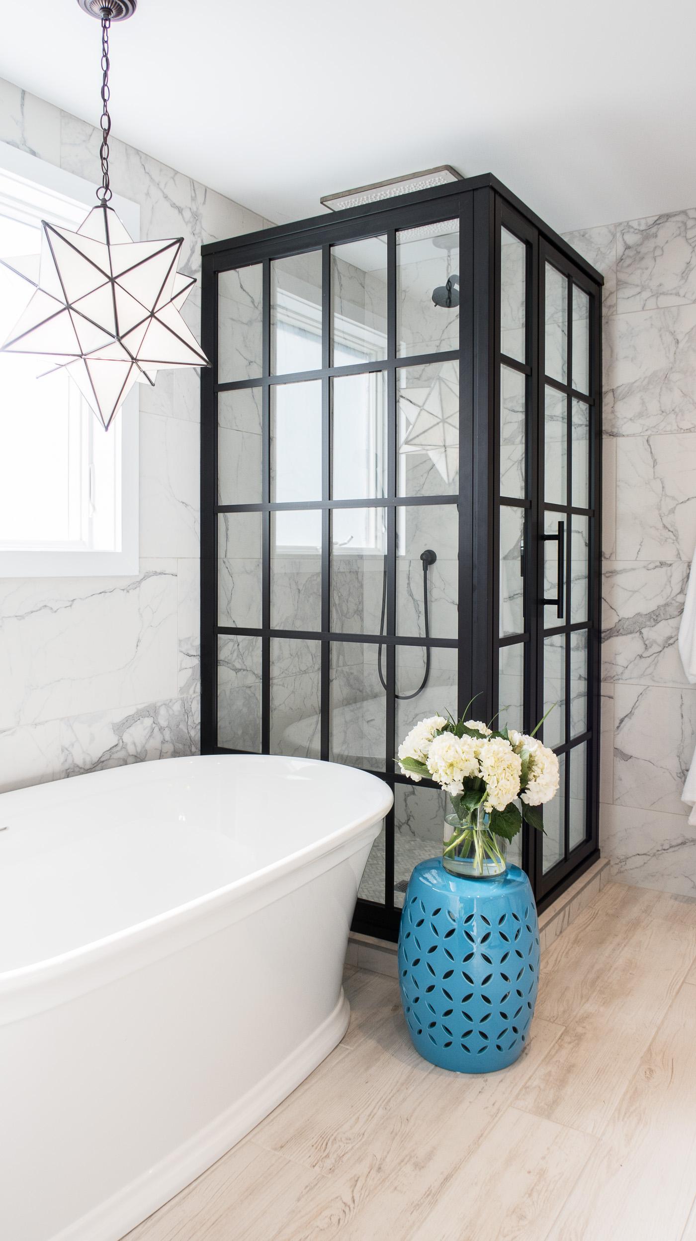 Windowpane Shower Door