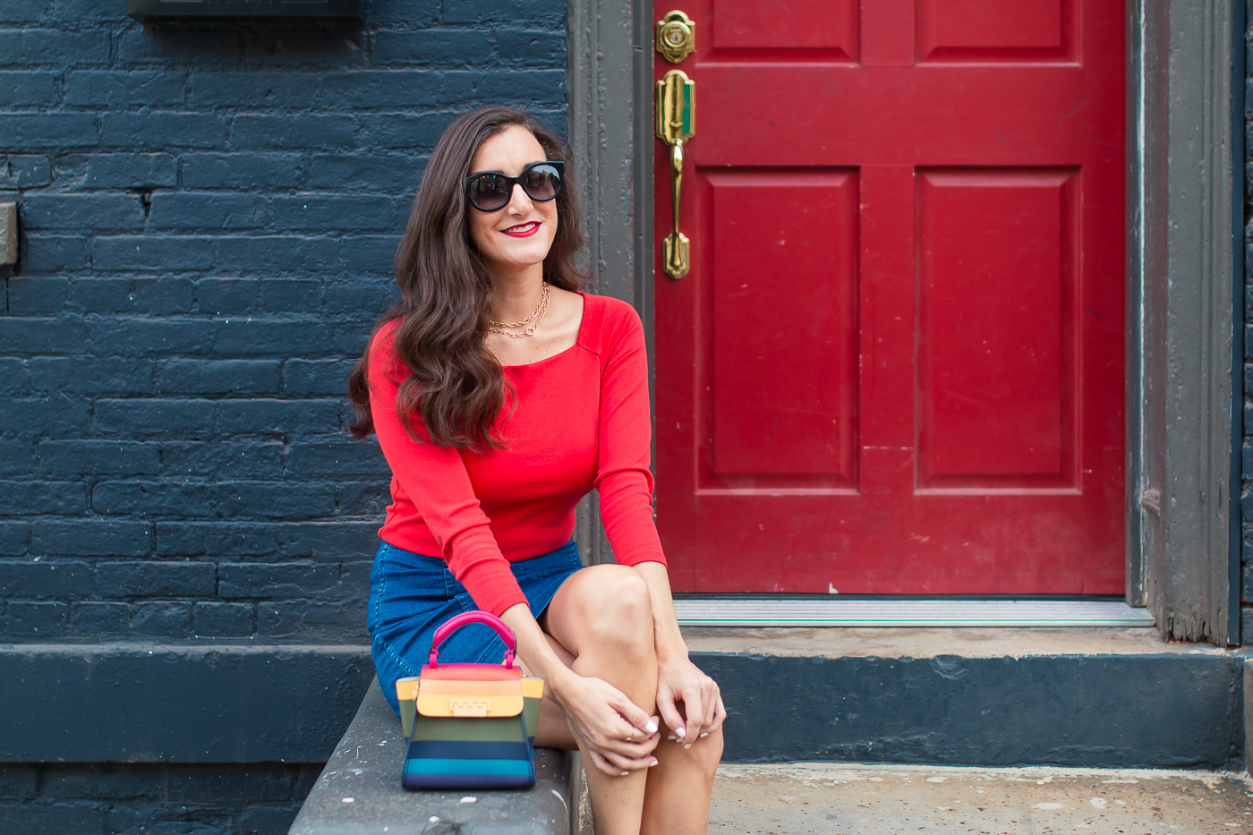 Cincinnati Blogger How To Style a Red Sweater