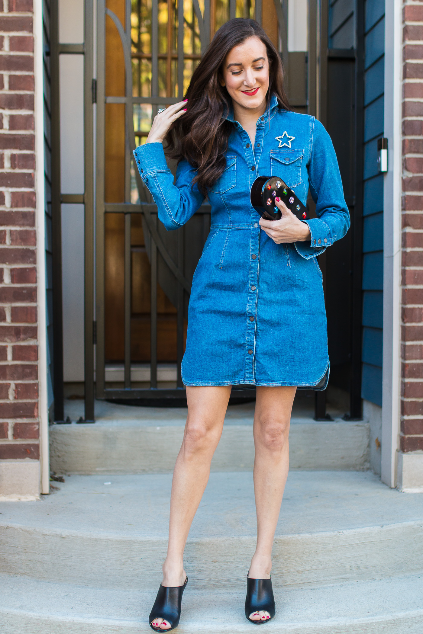 How to Wear a Denim Dress