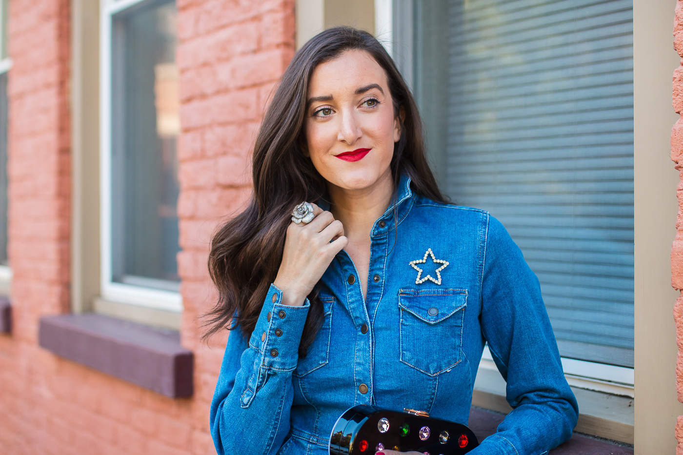 Vintage Brooch worn by Cincinnati blogger Olivia Johnson