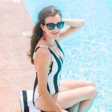 Striped Swimwear with Liberty Center