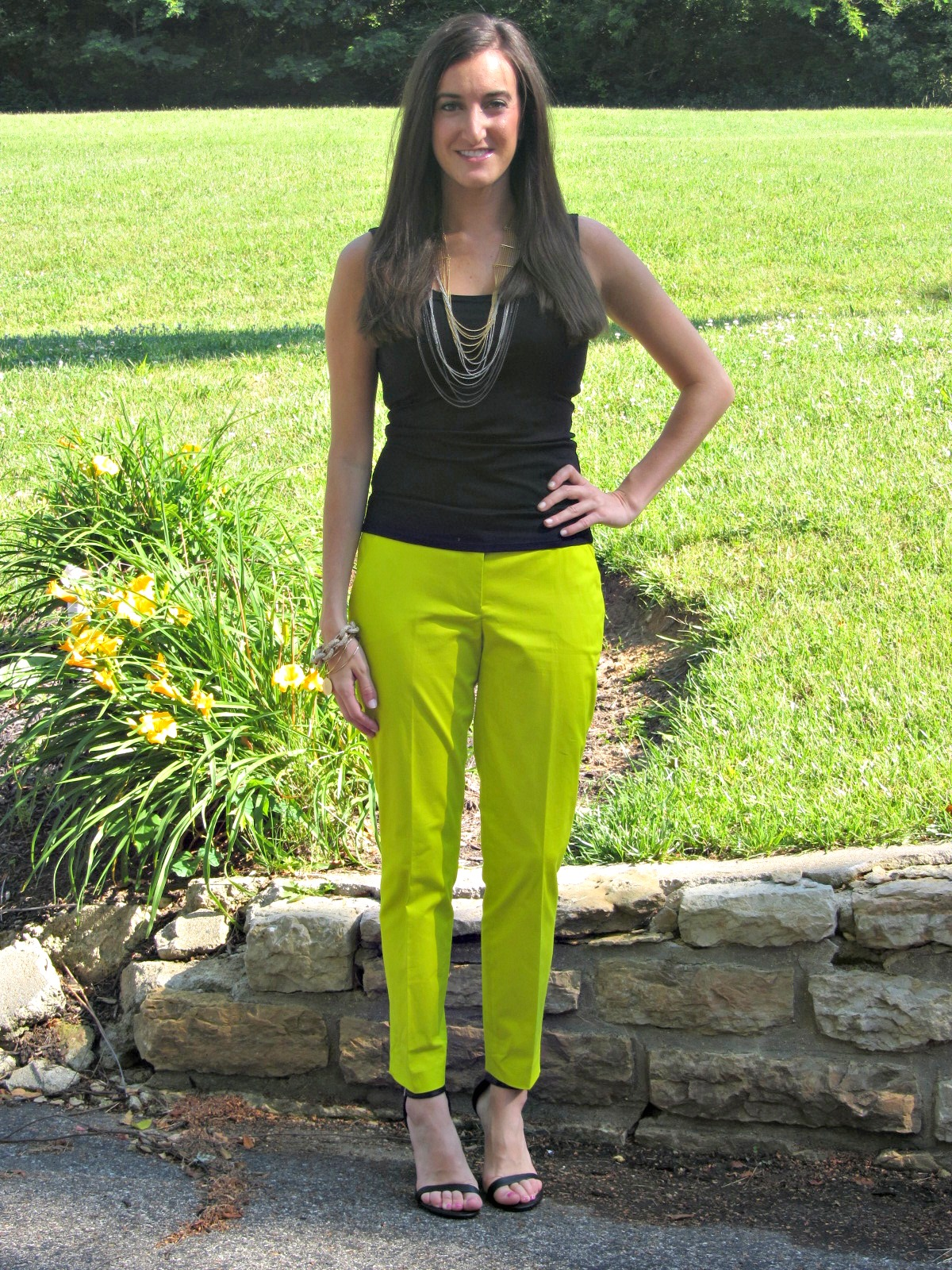 Lime Green Capri Pants