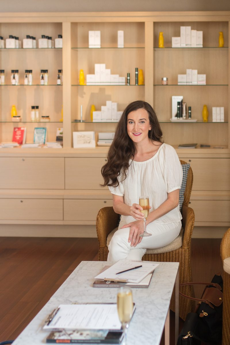 The Spa at 21c with blogger Olivia Johnson