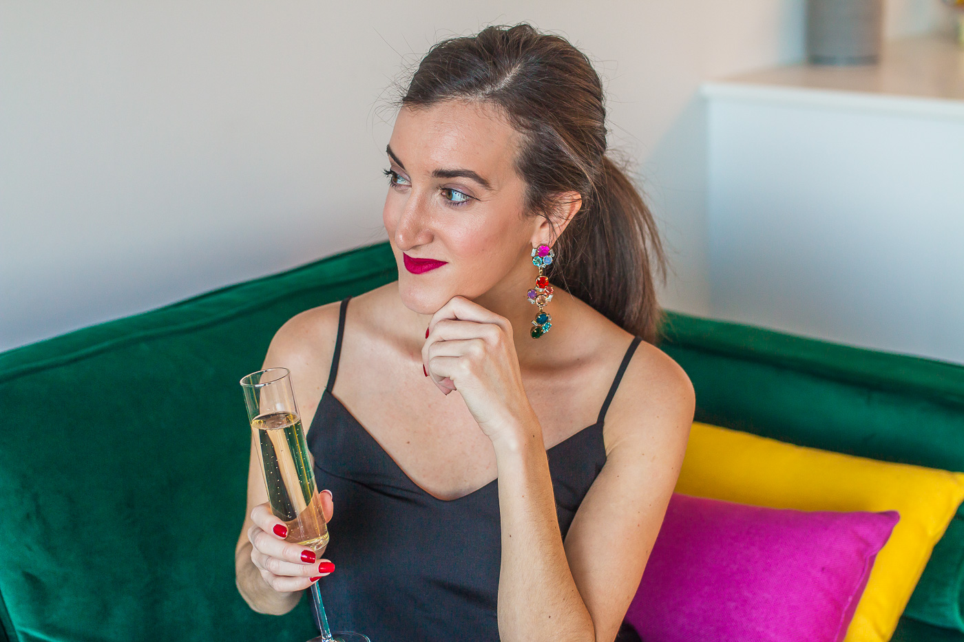 Holiday Outfit Inspiration from Blogger Baubles to Bubbles