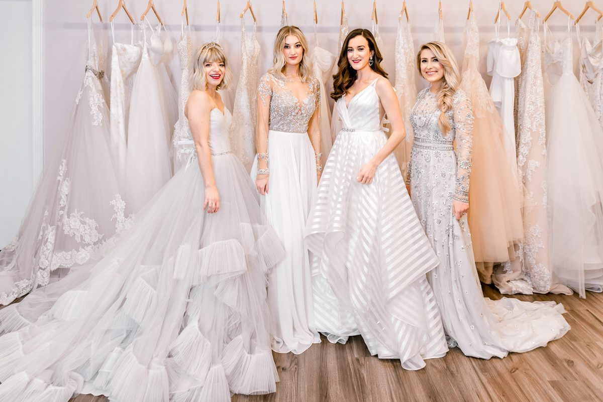 Luxe Redux Bridal Cincinnati with fashion bloggers Olivia Johnson of Baubles to Bubbles, Hannah Shanae, Red Couch Closet and Coming in Clutch Bryanna Bach