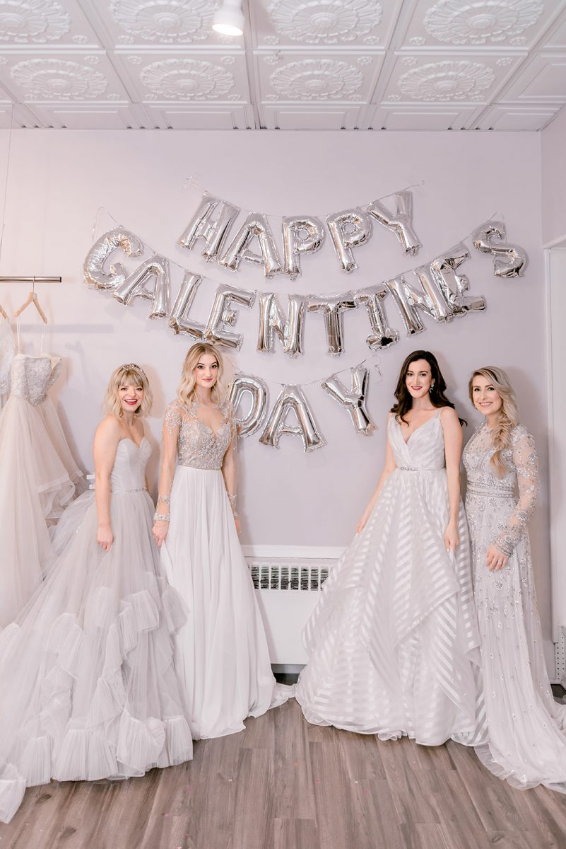 Cincinnati fashion bloggers wearing wedding dresses at Luxe Redux Bridal in the Reading Bridal District