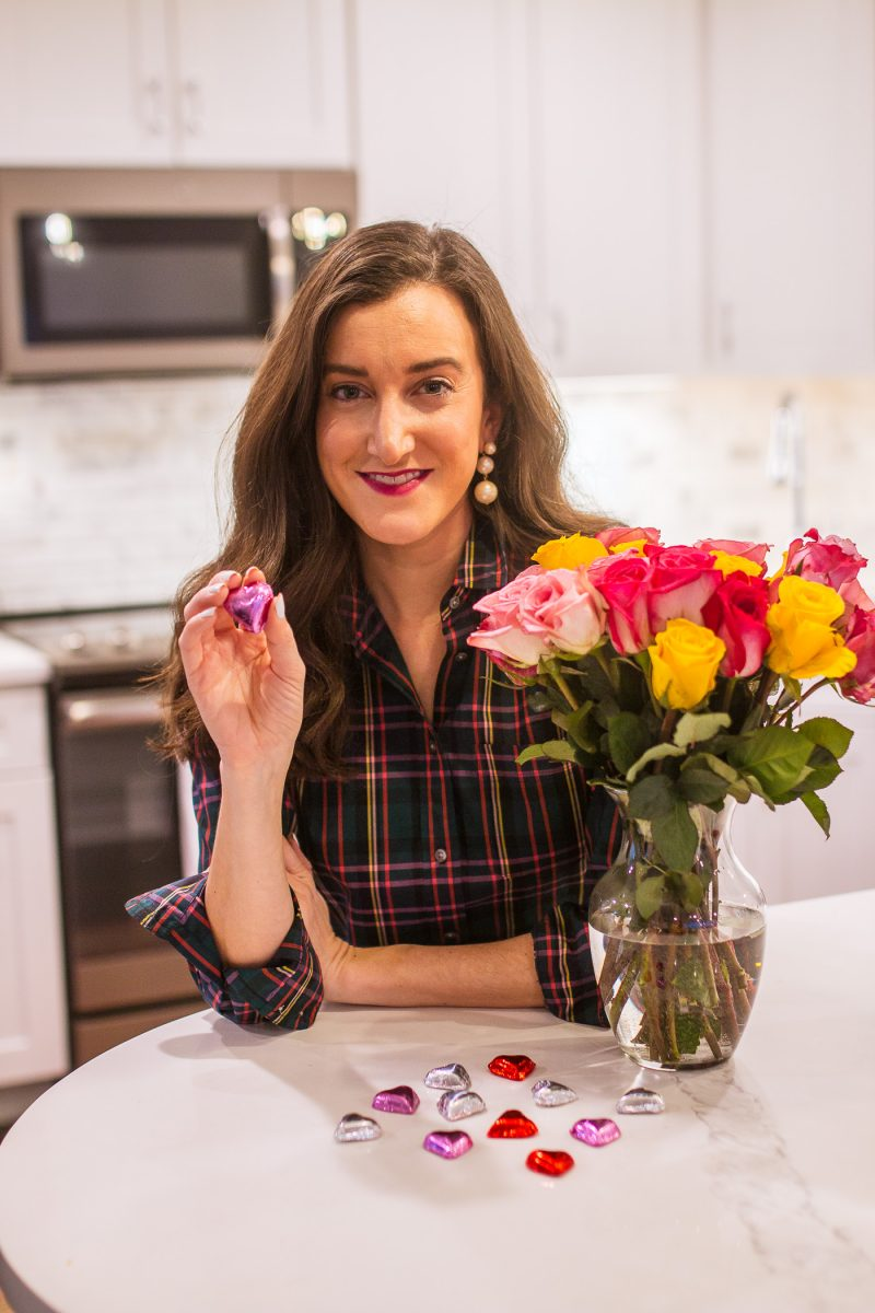 Vermont Nut Free chocolates with blogger Olivia Johnson from Baubles to Bubbles