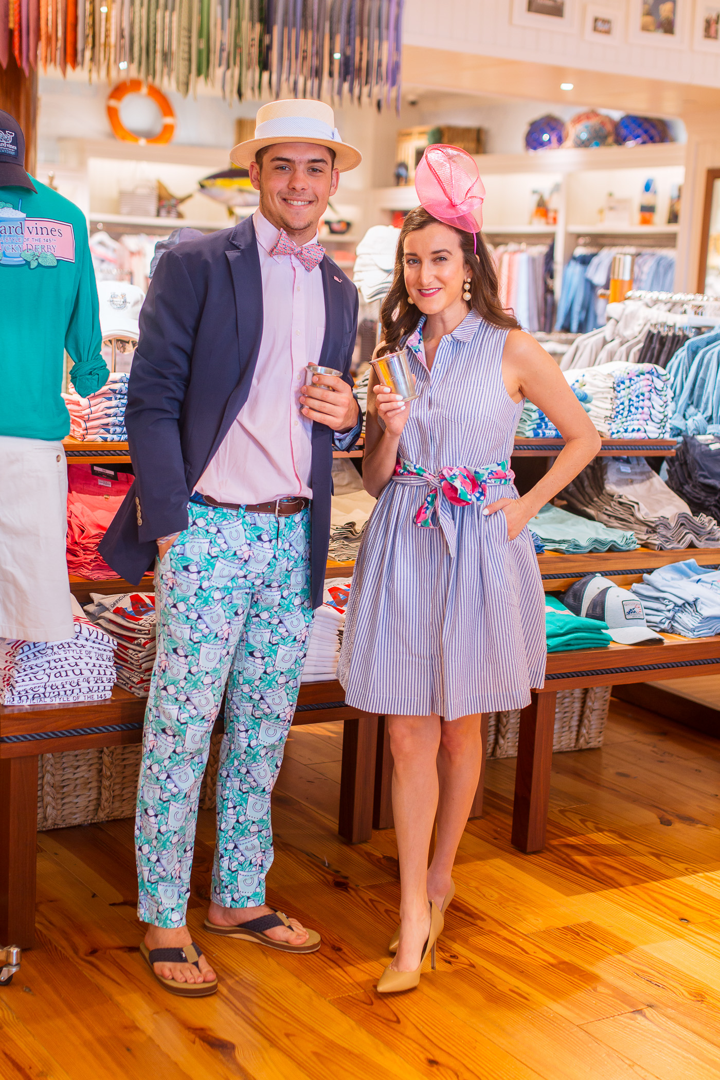 Vineyard Vines Kentucky Derby Dress worn by blogger Baubles to Bubbles