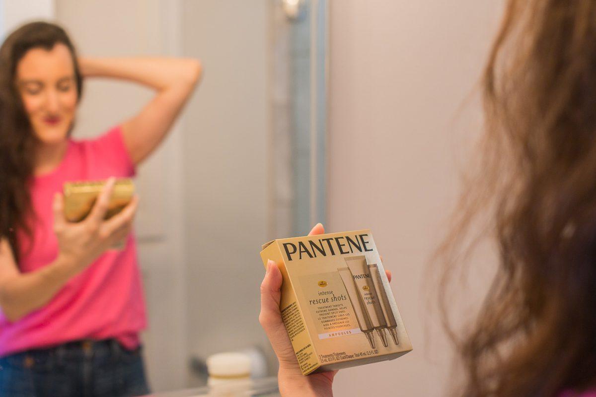Pantene Rescue Shots Review by Cincinnati Blogger Baubles to Bubbles