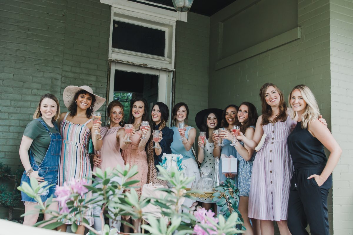 Borrowed Time Events is a Cincinnati rental company that planned a bridal shower themed photoshoot