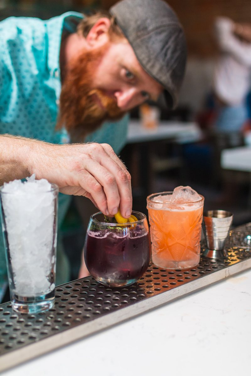 Craft cocktails being made at Cincinnati's newest bar Comfort Station