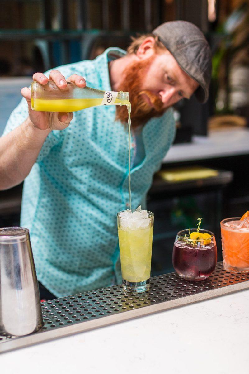 Craft cocktails at Comfort Station bar in Cincinnati