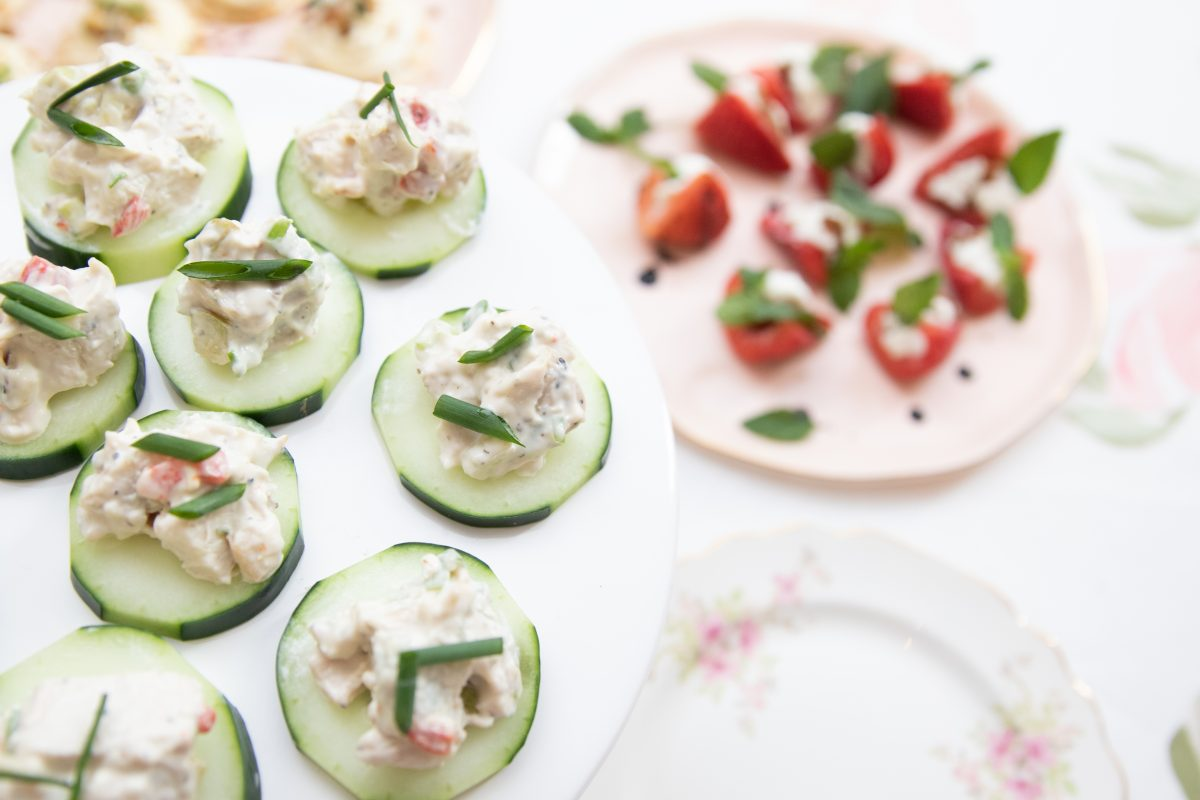 Cucumber appetizers from Tano Bistro and Catering in Cincinnati