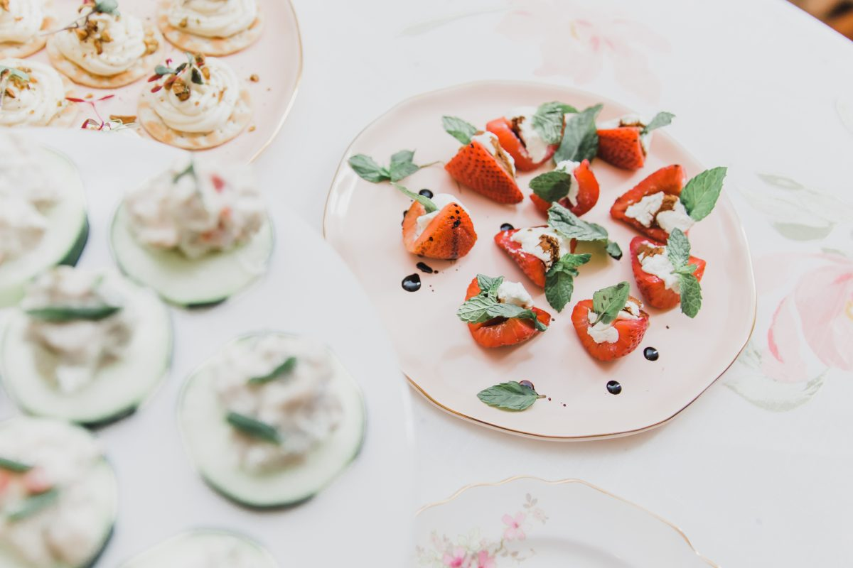 Strawberry and mint appetizers from Tano Catering in Cincinnati
