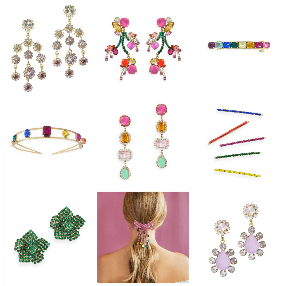 Loren Hope Jewelry includes colorful and feminine statement earrings and hair accessories
