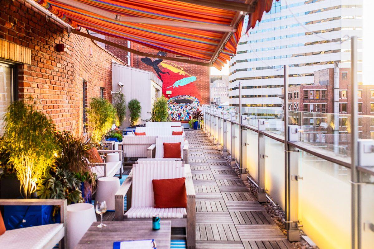 21c hotel Cincinnati Cocktail Terrace