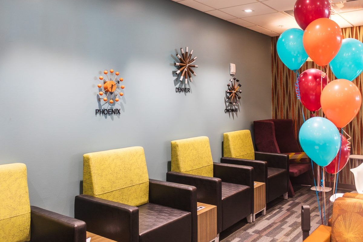 American Express Escape Lounge at CVG Airport
