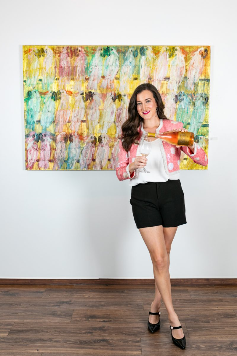 Olivia Johnson of Baubles to Bubbles at Miller Gallery in Cincinnati