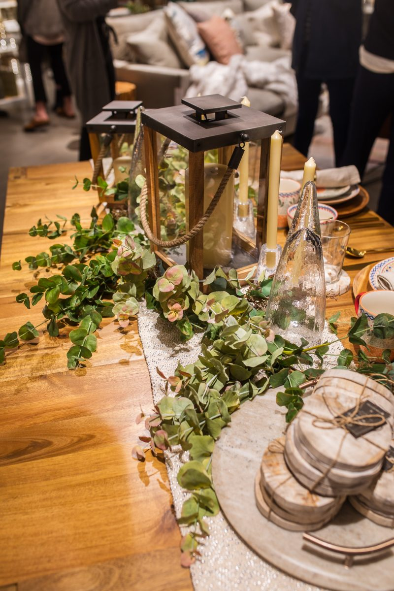 Tabletop decor at West Elm Cincinnati