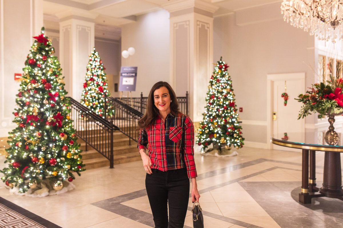 Blogger Olivia Johnson of Baubles to Bubbles at The Chase Park Plaza in St. Louis, Missouri