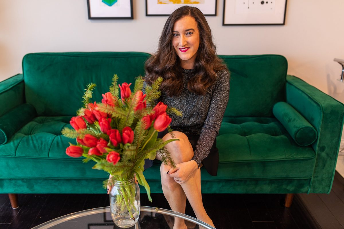 Blogger Olivia Johnson of Baubles to Bubbles shares a flower arrangement from The Bouqs Co