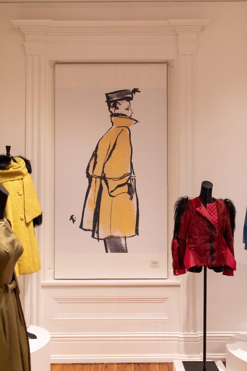 Fashion sketch at Distinctly Paramount exhibit