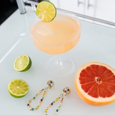 Prosecco Paloma with Lulu Frost Earrings